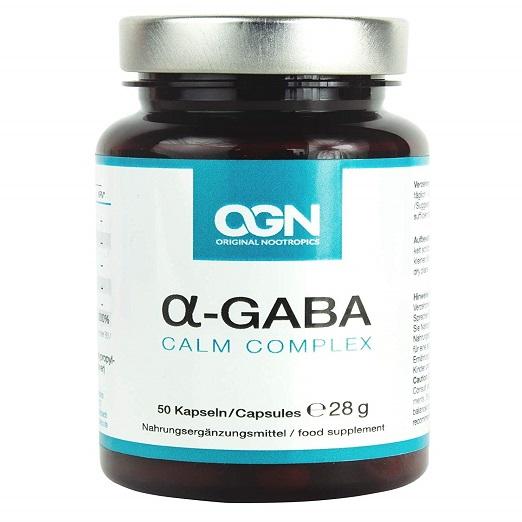 Alpha GABA Original Nootropics – CALM COMPLEX Zur Beruhigung Und Entspannung – Vegane Kapseln Mit GABA, Bacopa Monnieri, Passiflora, L-Theanin