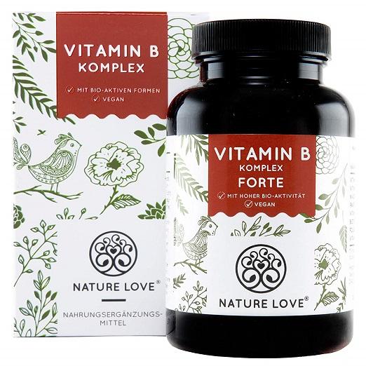 Vitamin B Komplex Forte Kapseln – 180 Stück Im 6 Monatsvorrat. Bis Zu 10-fach Höher Dosiert Als Andere Vitamin B Komplexe. Premium: Mit Bio-aktiven Vitamin B Formen, Dadurch Hohe Bioverfügbarkeit