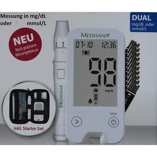Diabetes Mellitus MediTouch 2 Dual Von Medisana. Blutzuckermessgerät Misst In Mg Pro Dl Und Mmol Pro L. Starterset Inkl. Teststreifen, Lanzetten, Stechhilfe U.v.m.