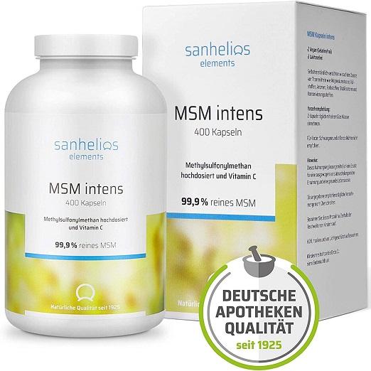 MSM + Vitamine C Zijn Beiden Belangrijk Voor Talrijke Lichaamsfuncties, Metabole Processen, Bescherming Van De Cellen, En De Normale Functie Van Botten, Gewrichten En Bloedsomloop, Hoge Dosis, Apotheekkwaliteit, Veganistisch, 400 Capsules