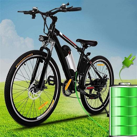 Krachtige Elektrische Mountainbike, Buiten Trainen, Fitness En Genieten SHIJING 26 Inch 250W EBike 21 Speed Elektro-City Road Electric Mountain EU/UK