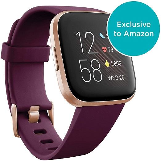 Fitbit Versa 2 – Gezondheids- En Fitnesstracker Smartwatch Met Spraakbesturing, Slaapindex En Muziekfunctie, Met Alexa-integratie